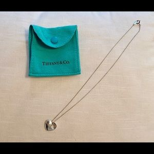 Tiffany and Co Silver Heart Pendant Necklace